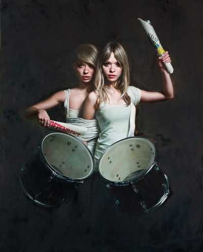 Yasmin and Leela Carr-Bond - Renowned Artist Mitch Griffiths 2012-2014