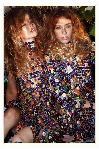 Yasmin and Leela Carr-Bond - Golden Capsule in Fashion Shift Magazine