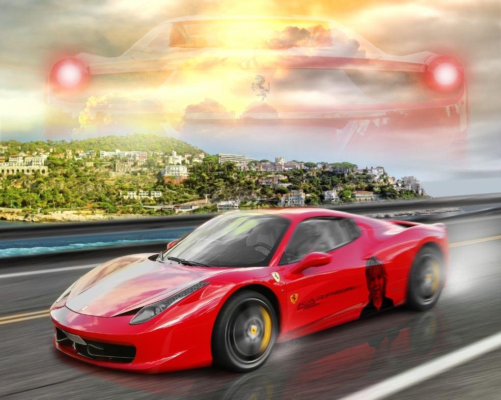 Linda Persson - Digital artist - Ferrari projekt åt kund