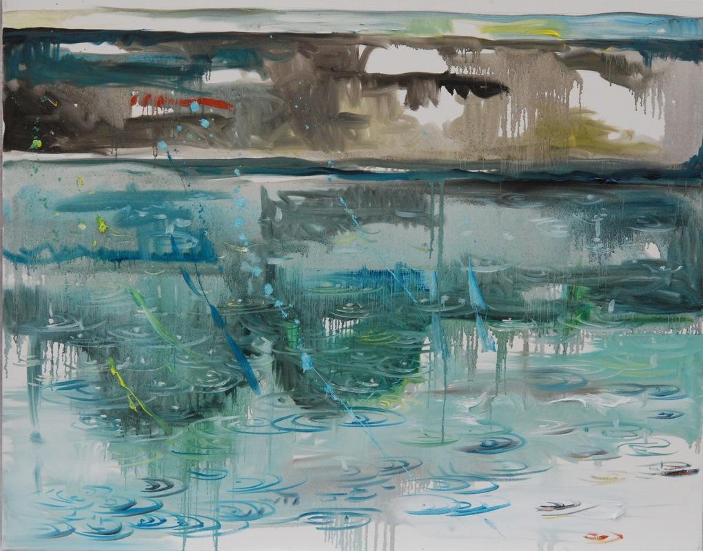 Martina Dalla Stella - Pioggia, olio su tela, 80x90 cm, 2012