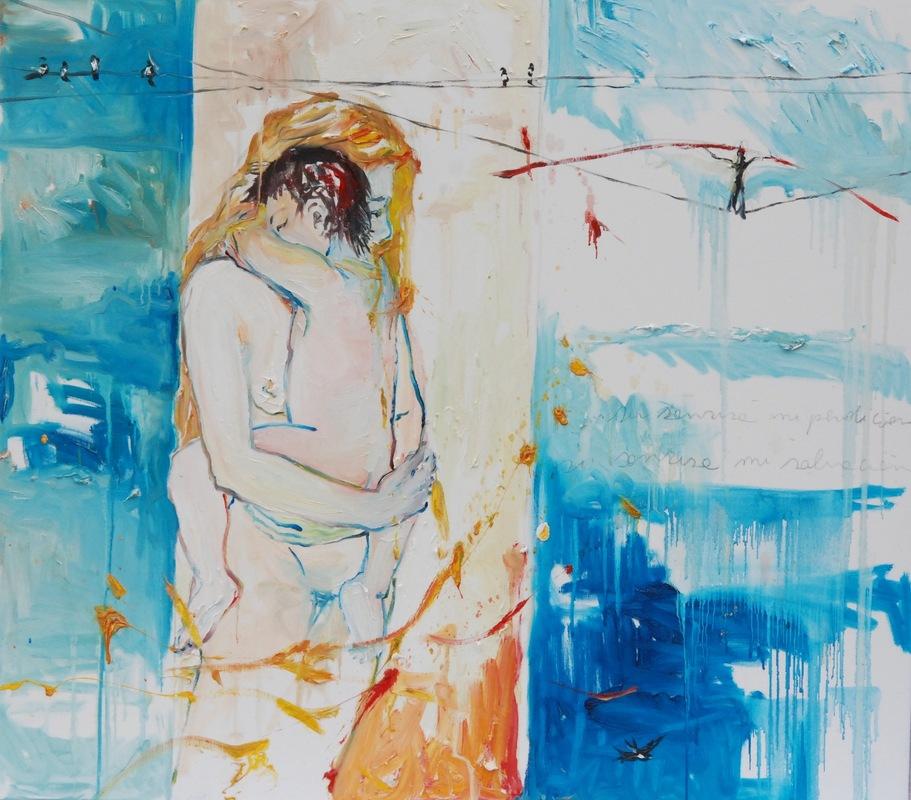 Martina Dalla Stella - Su sonrisa mi perdición, su sonrisa mi salvación, olio su tela, 80x100 cm, 2009