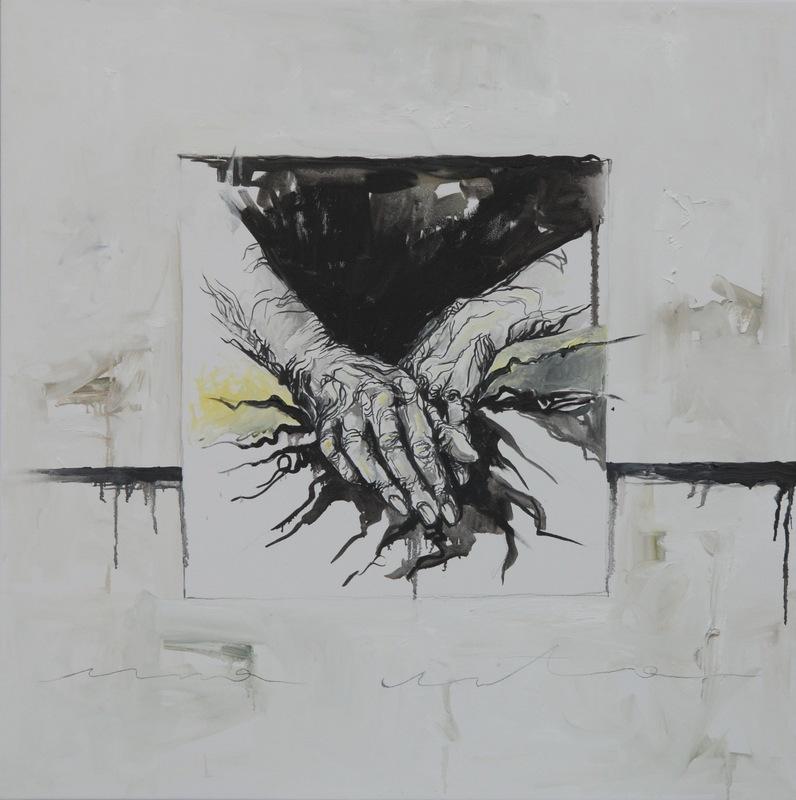 Martina Dalla Stella - Una vita, olio su tela, 90x90 cm, 2014