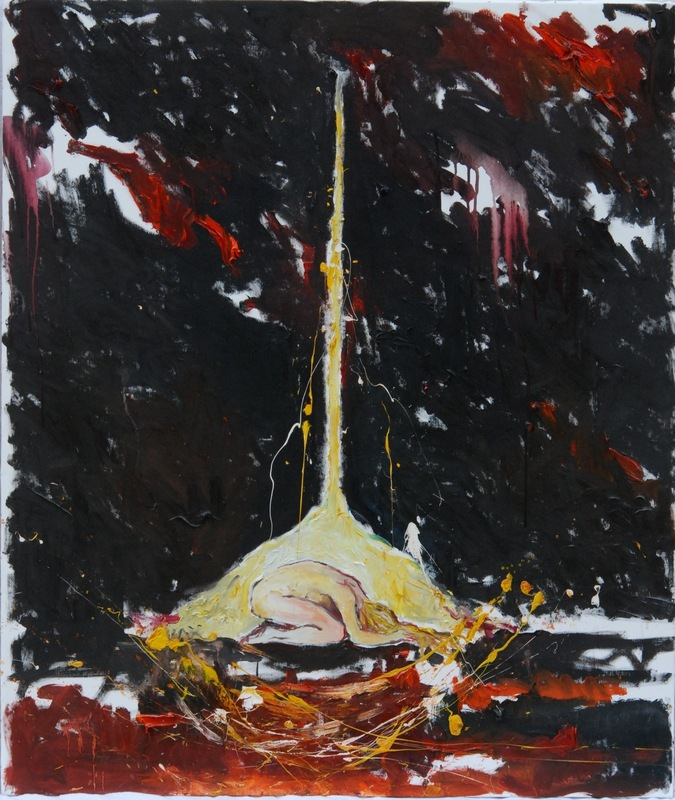 Martina Dalla Stella - Autoritratto n.4, olio su tela, 115x100 cm, 2012