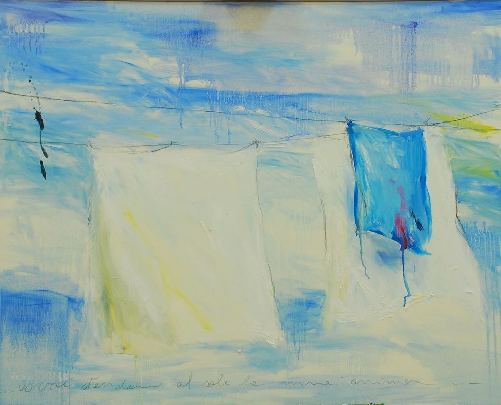 Martina Dalla Stella - Vorrei stendere al sole la mia anima, olio su tela, 80x90 cm, 2007