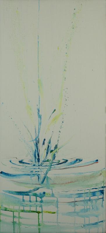 Martina Dalla Stella - Goccia, olio su tela, 80x35 cm, 2013