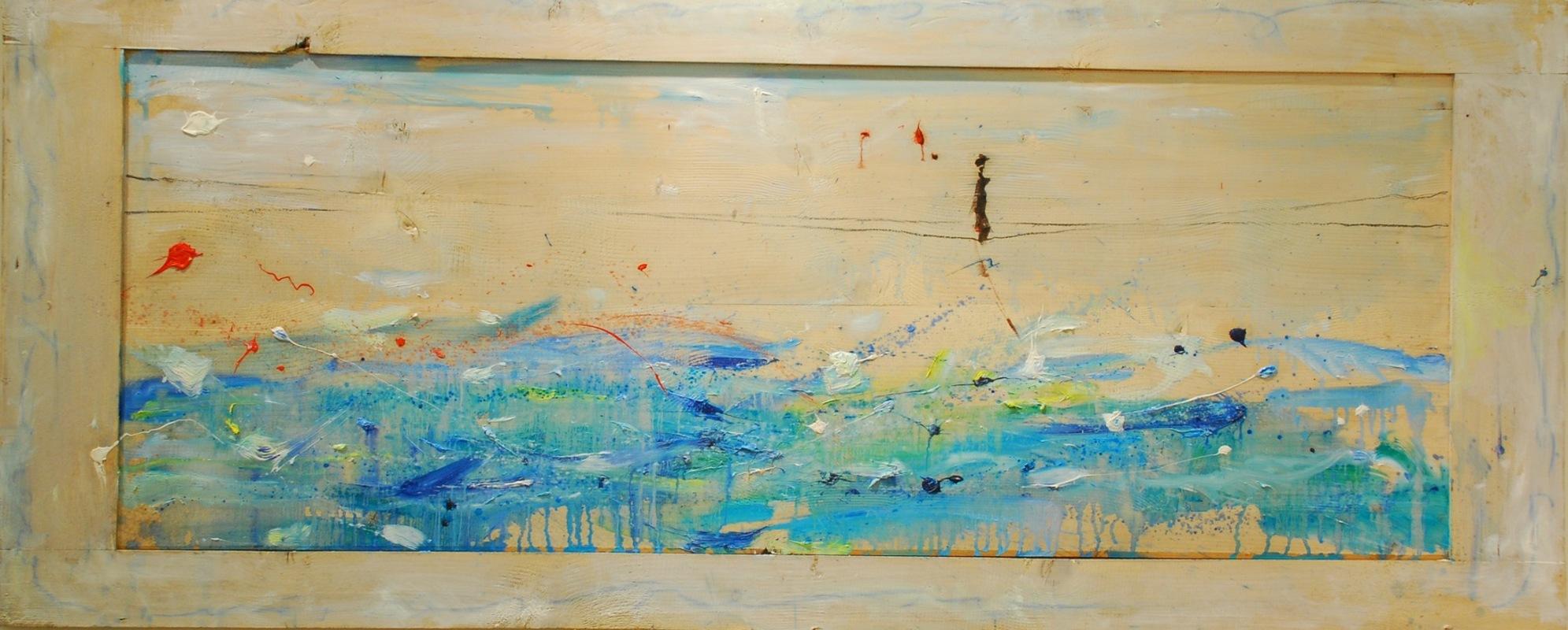 Martina Dalla Stella - In sospeso, olio su tavola, 70x170 cm, 2011