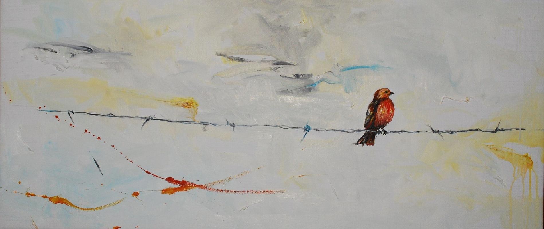 Martina Dalla Stella - Nonostante tutto..., olio su tela, 35x80 cm, 2013