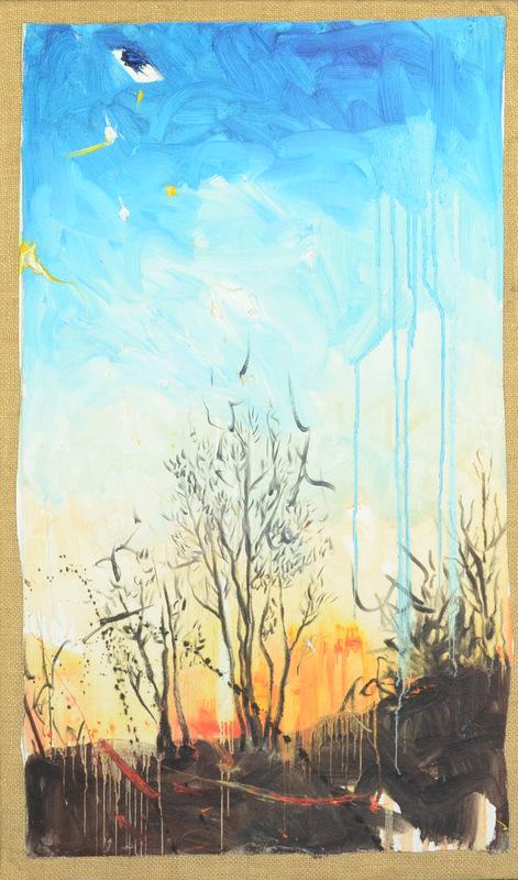 Martina Dalla Stella - Lultima stella del mattino, olio su tela, 55x30 cm, 2012