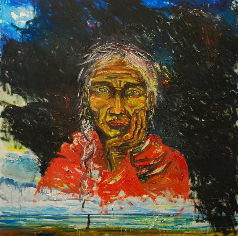 Martina Dalla Stella - Saggezza, olio su tela, 100x100 cm, 2007