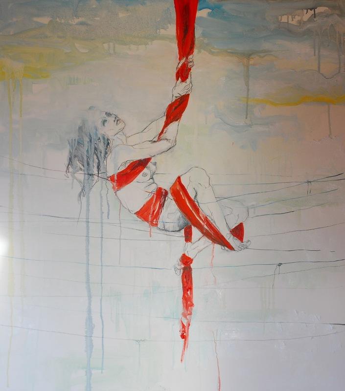 Martina Dalla Stella - Il senso di questo stare, olio e graffite su tela, 90x80 cm, 2015