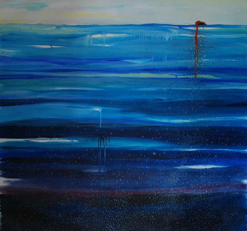 Martina Dalla Stella - Mediterraneo, olio su tela, 150x150 cm, 2016