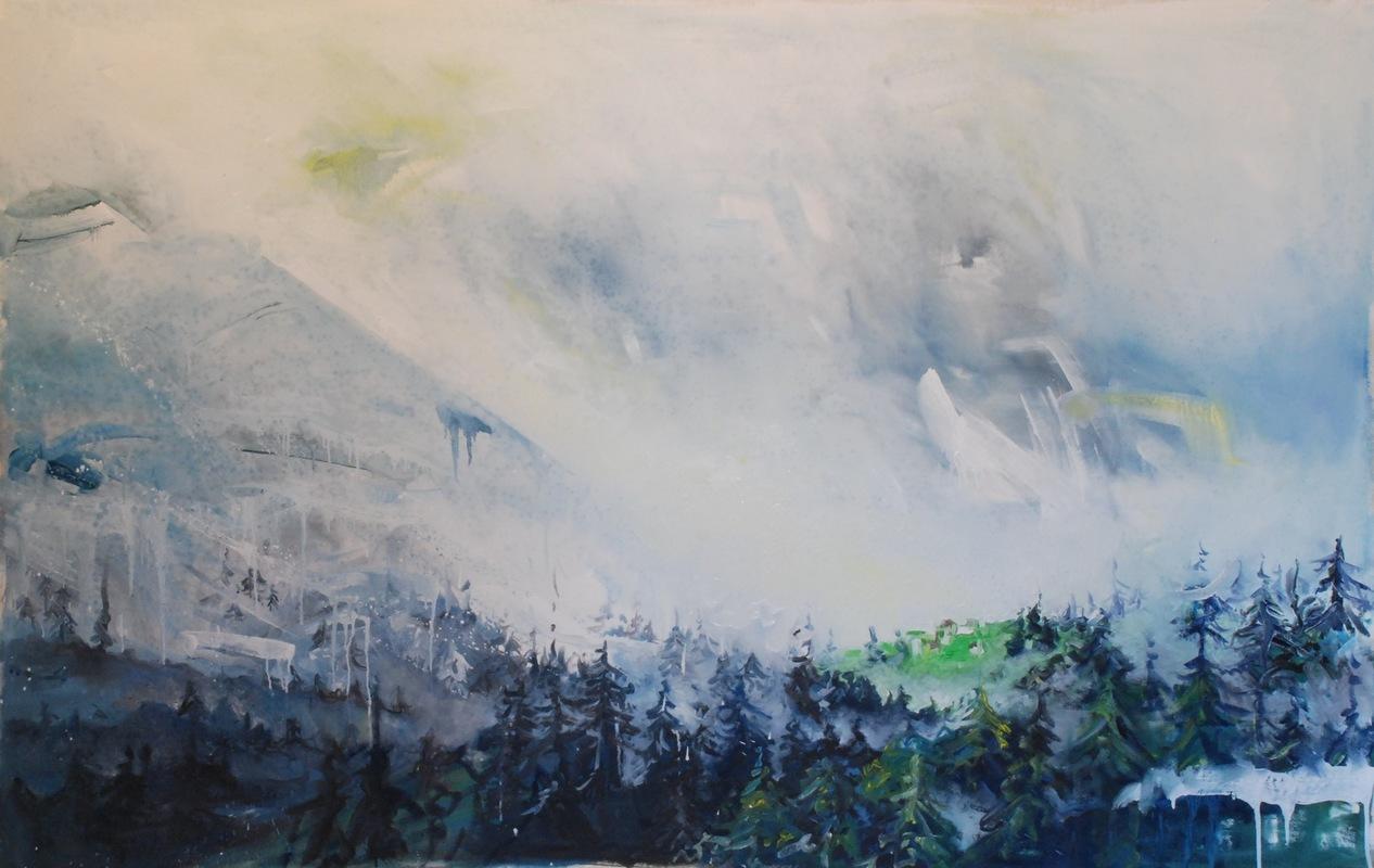 Martina Dalla Stella - Un momento di quiete, olio su tela, 115x175 cm, 2016