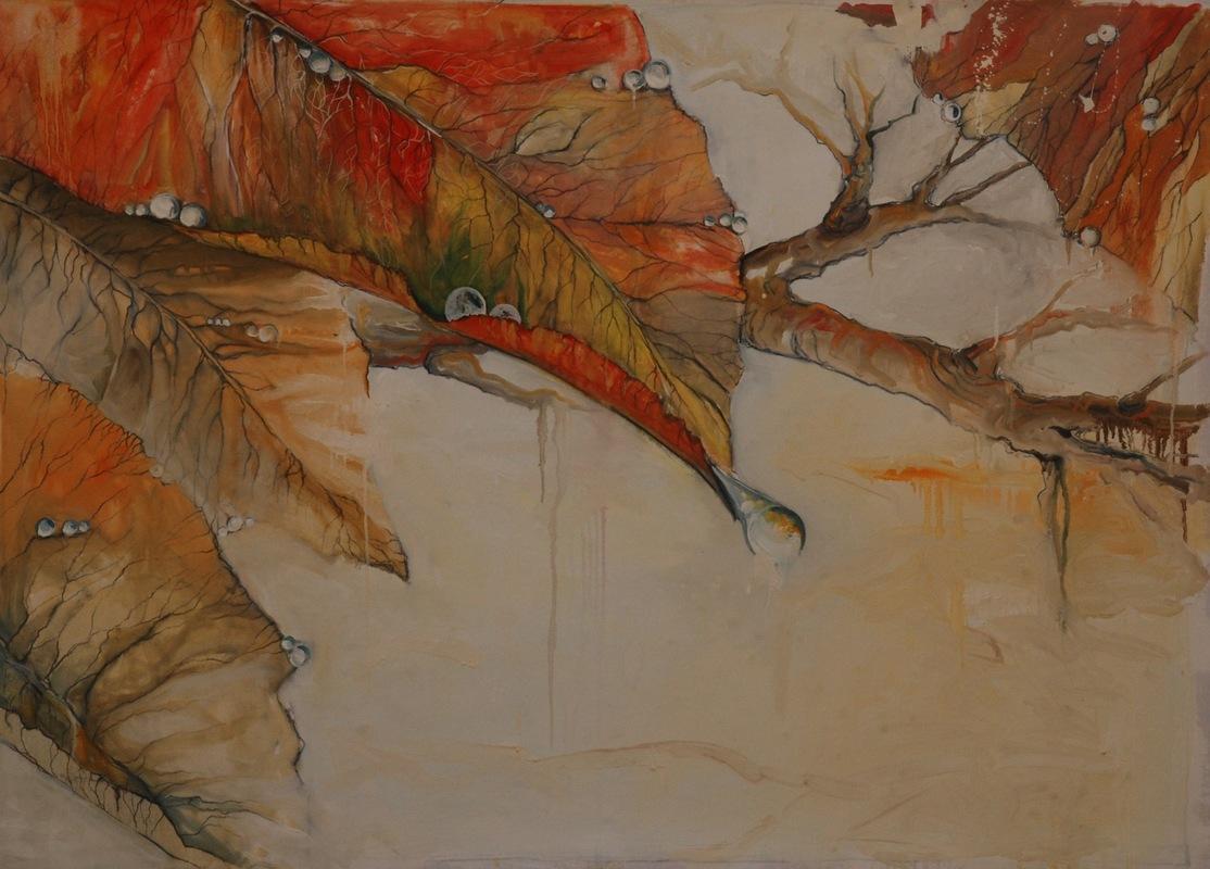 Martina Dalla Stella - Rugiada (ovvero la bellezza delle piccole cose), tecnica mista su tela, 105x135, 2016