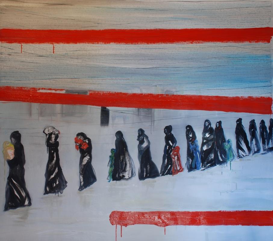 Martina Dalla Stella - La poca memoria/2, olio su tela, 150x160 cm, 2017