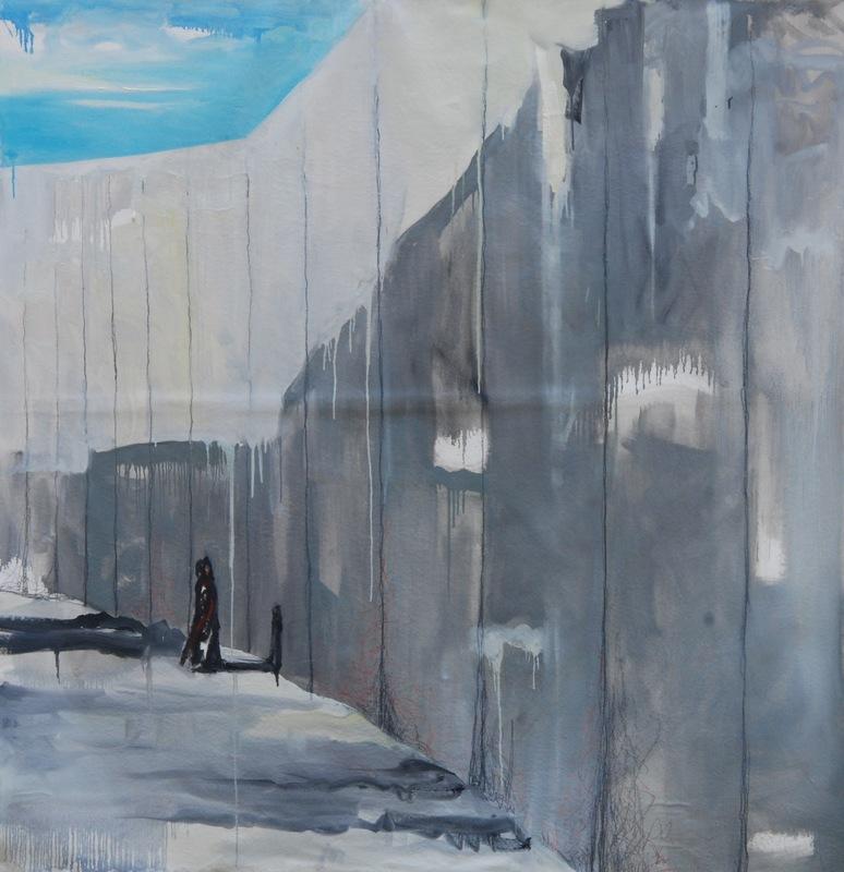 Martina Dalla Stella - Limite, olio su tela, 180x180, 2017