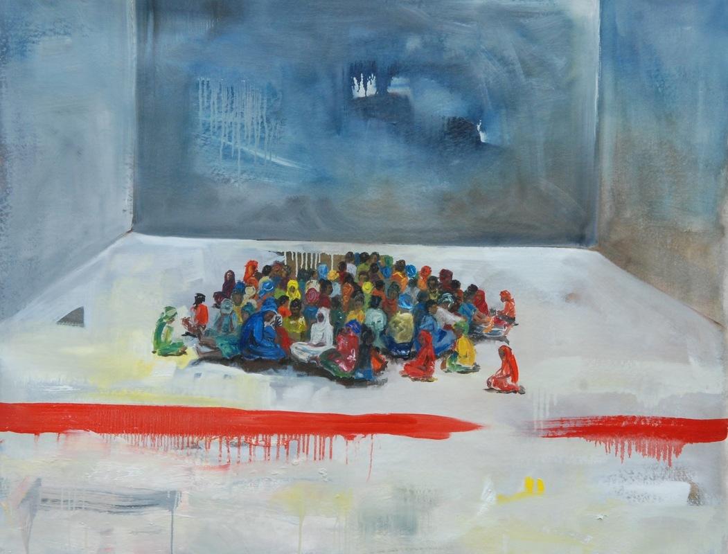 Martina Dalla Stella - Limite n.3, olio su tela, 105x150 cm, 2017