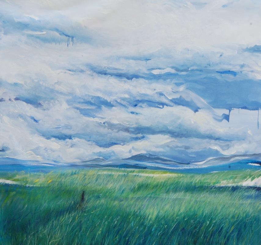 Martina Dalla Stella - Sconfinato, olio su tela, 180x180 cm, 2017