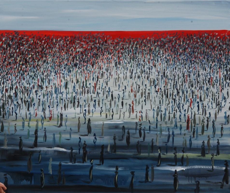 Martina Dalla Stella - Limite n.2, olio su tela, 100x120 cm, 2017