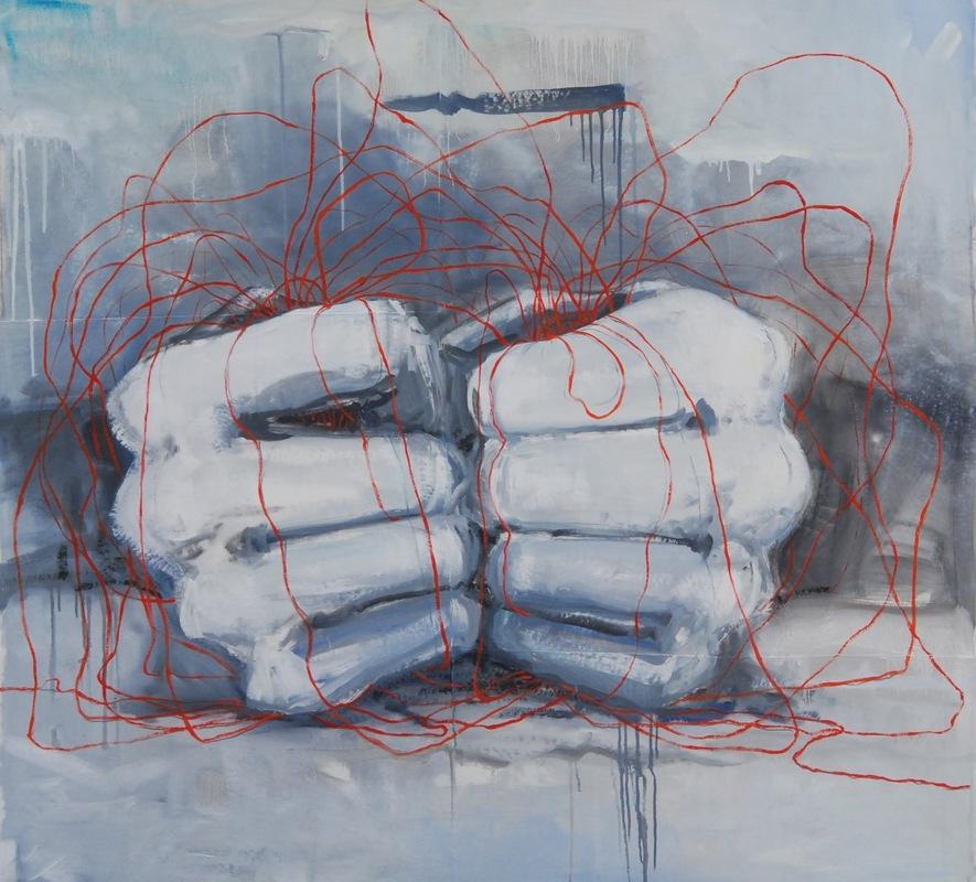 Martina Dalla Stella - La poca memoria n.5, olio su tela, 140x150 cm, 2017