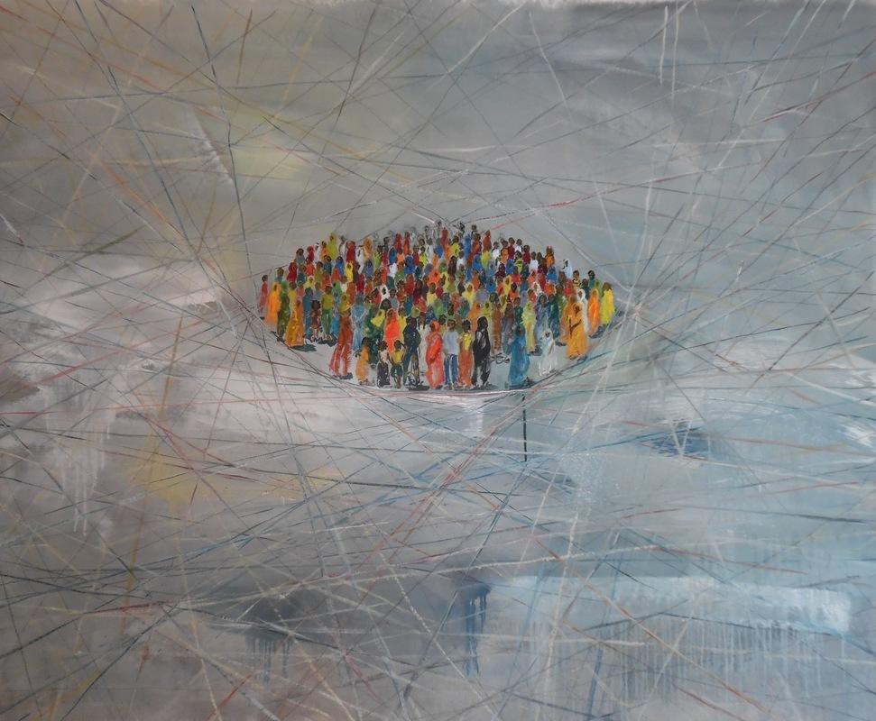 Martina Dalla Stella - Limite n.4, olio su tela, 113x142 cm, 2017