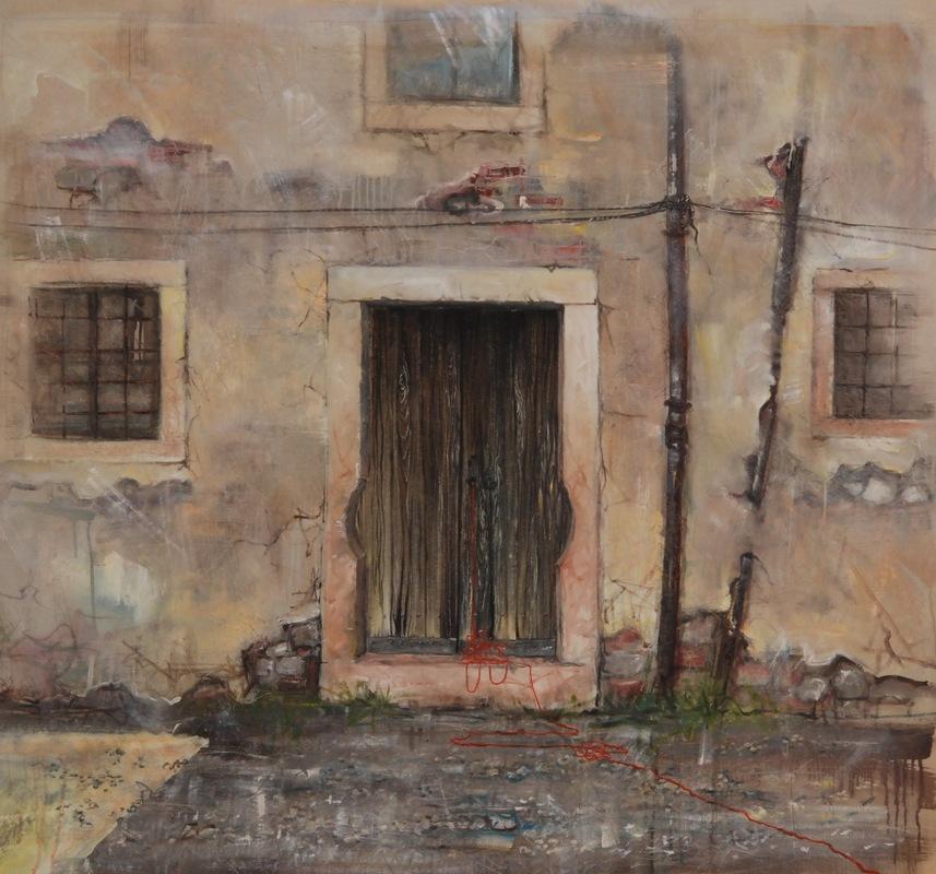 Martina Dalla Stella - Sconfinamenti n.3, olio su tela, 130x130 cm, 2018
