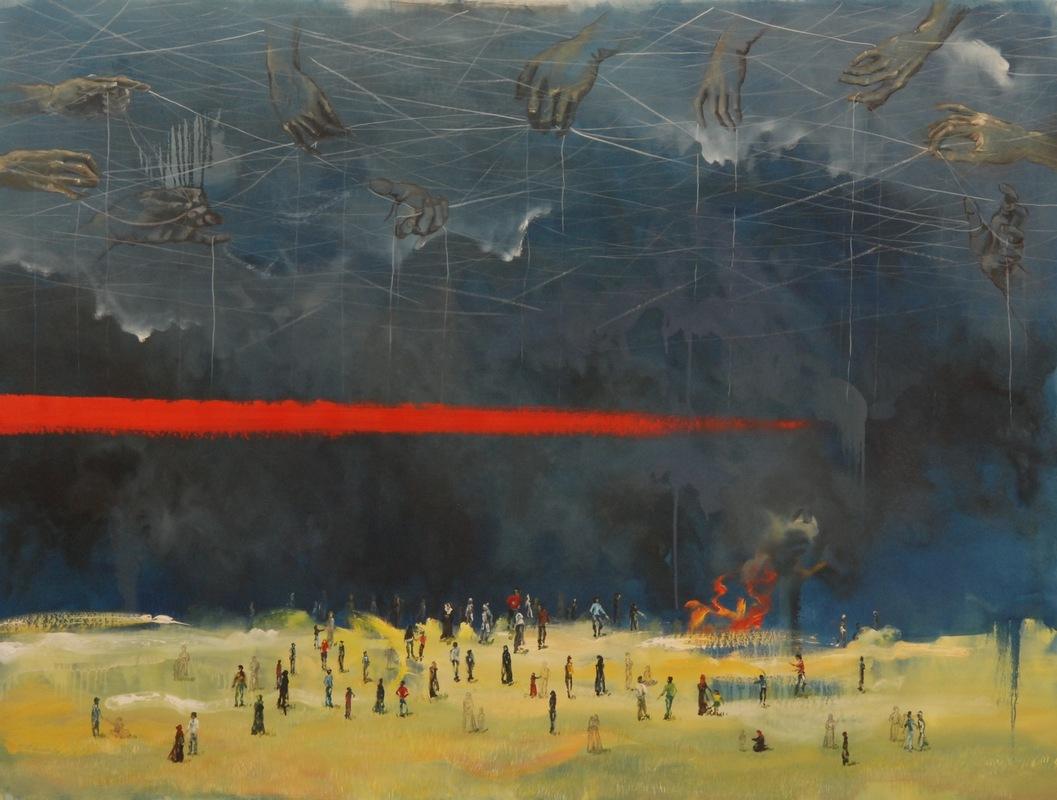 Martina Dalla Stella - Ancora n.2, olio su tela, 130x150 cm, 2018