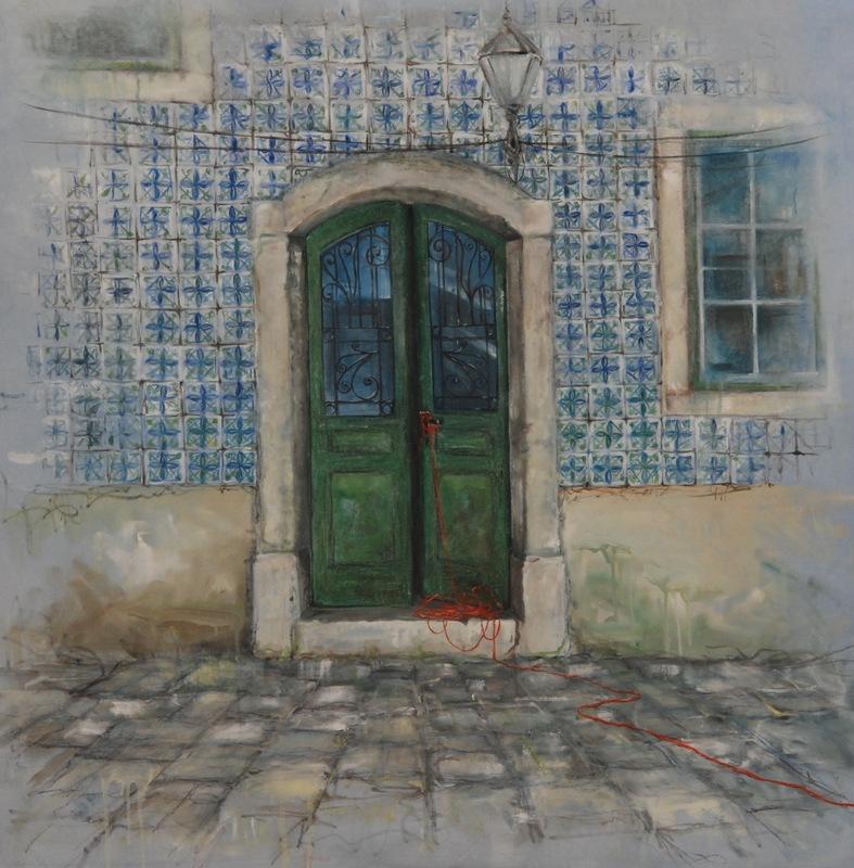 Martina Dalla Stella - Sconfinamenti n.2, olio su tela,130x130 cm, 2018
