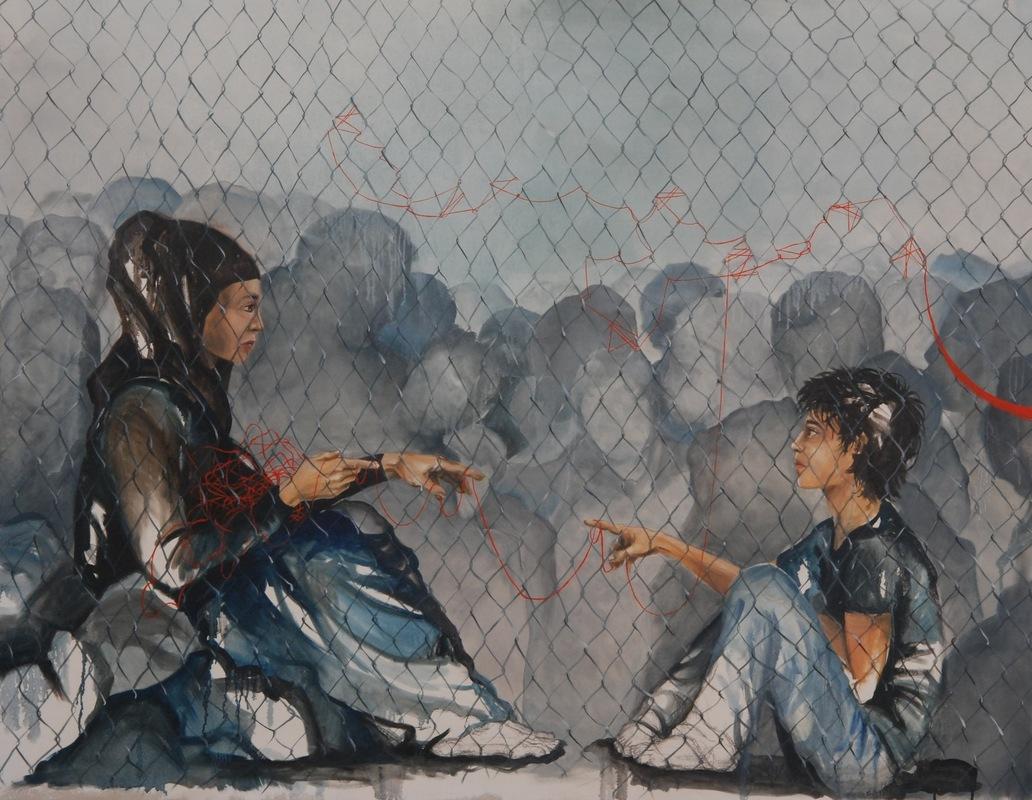 Martina Dalla Stella - Sconfinamenti n.4, olio su tela, 140x170 cm, 2018