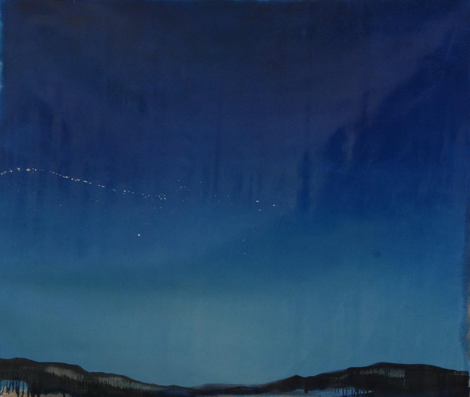 Martina Dalla Stella - Silenzio, olio su tela, 150x150 cm, 2018