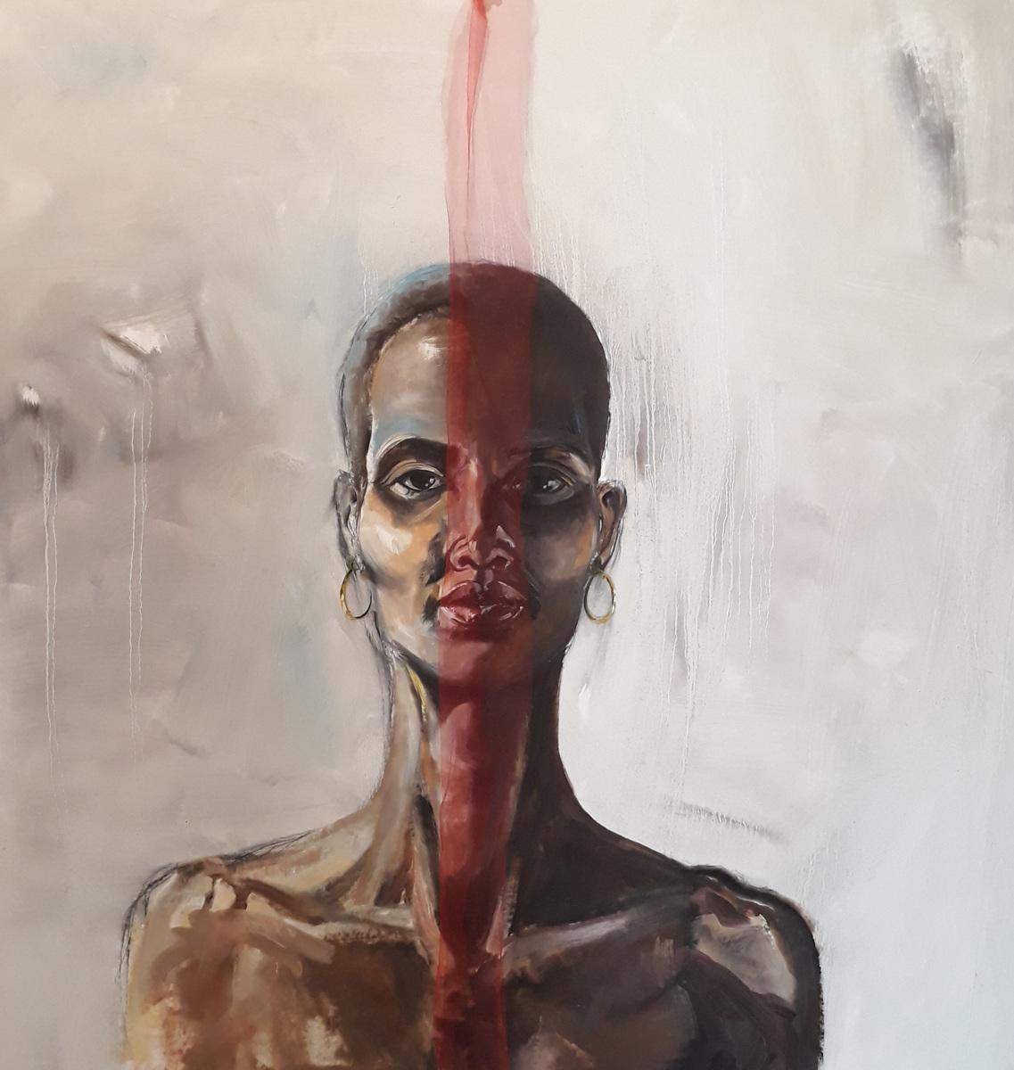 Martina Dalla Stella - Trame, olio su tela, 110x104 cm, 2019
