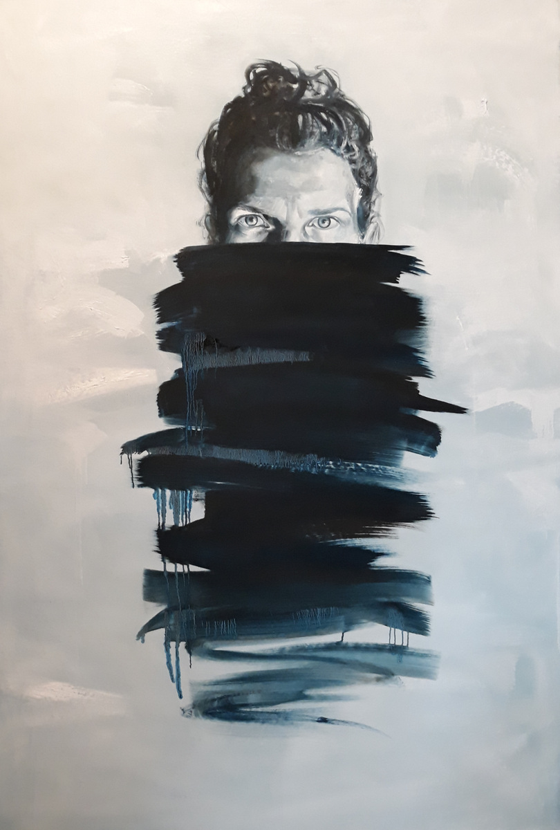 Martina Dalla Stella - Indignazione, olio su tela, 170x110 cm, 2019