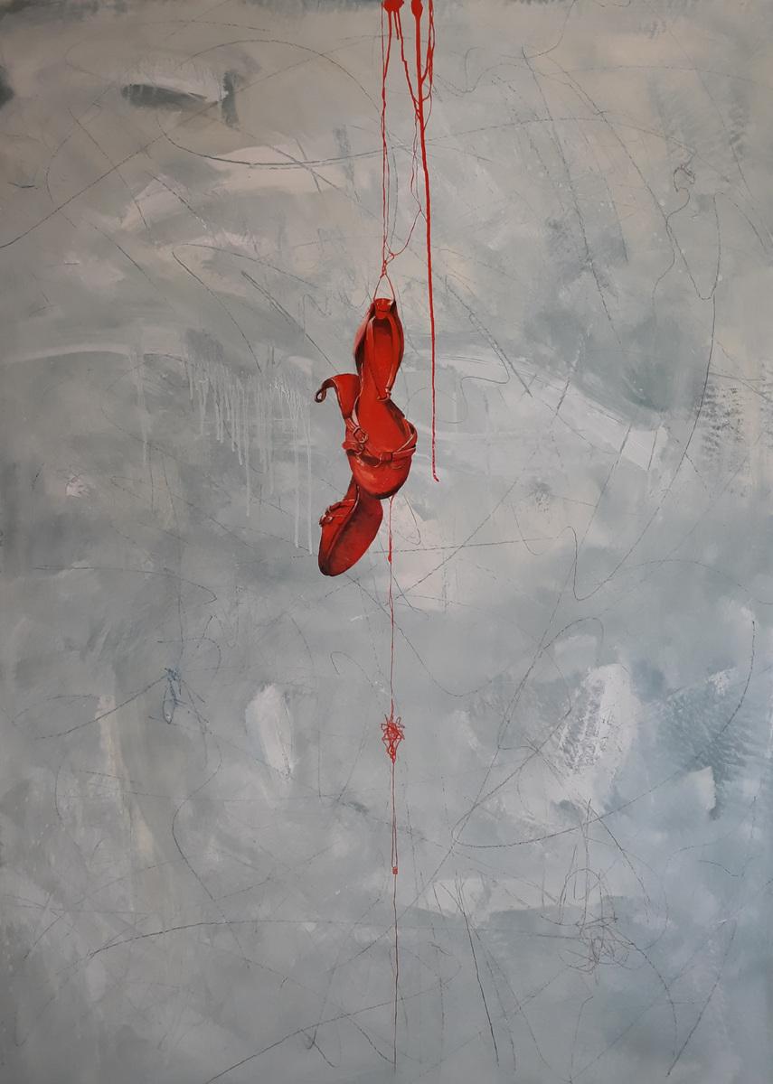 Martina Dalla Stella - Lumano viaggio/3, olio su tela, 180x120 cm, 2019