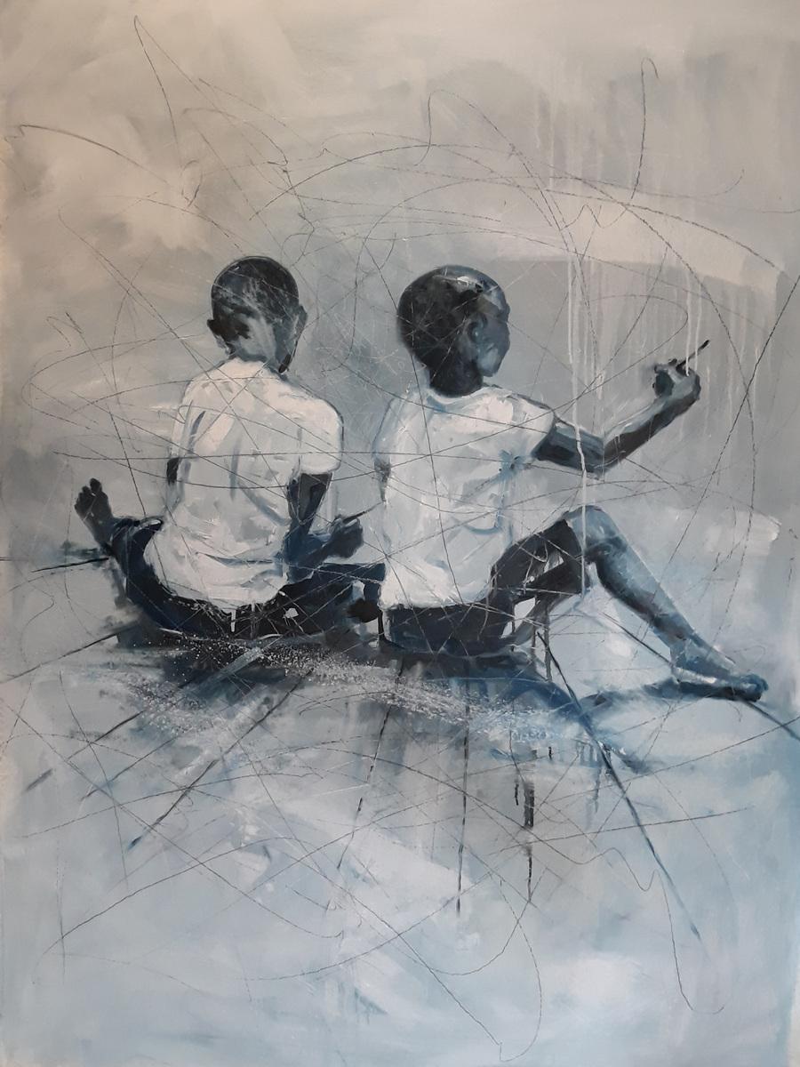 Martina Dalla Stella - Lumano viaggio/2, olio su tela, 180x120 cm, 2019