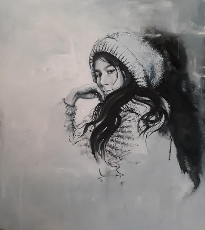 Martina Dalla Stella - Mi Alma, olio su tela, 105x95 cm, 2019