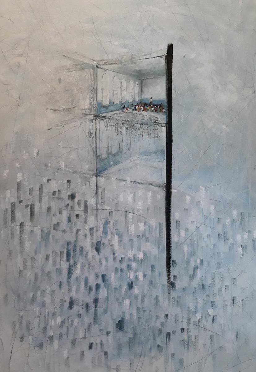 Martina Dalla Stella - Nonostante tutto olio su tela, 170x120 cm, 2019