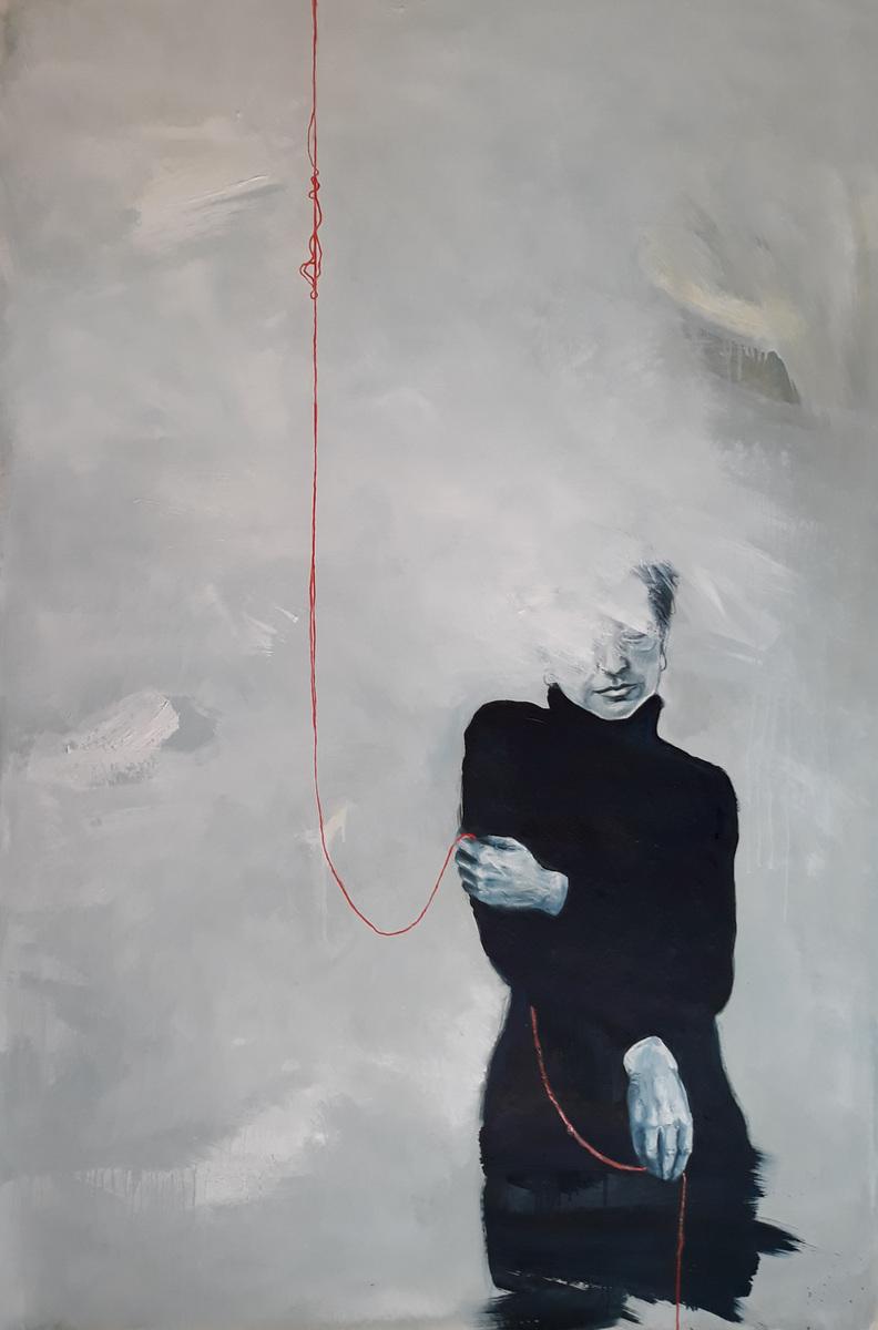 Martina Dalla Stella - Vietato dimenticare n.2 (dedicato a A.P.), olio su tela, 170x120 cm, 2019