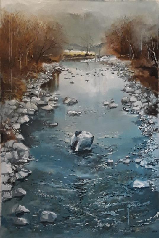 Martina Dalla Stella - Impermanenza, olio su tela, 150x100 cm, 2019