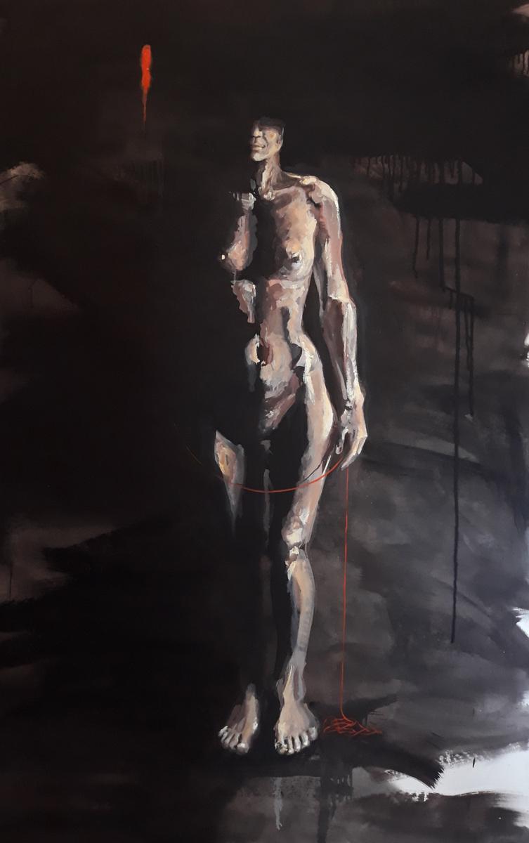 Martina Dalla Stella - Ombra e luce, olio su tela, 170x120 cm, 2020