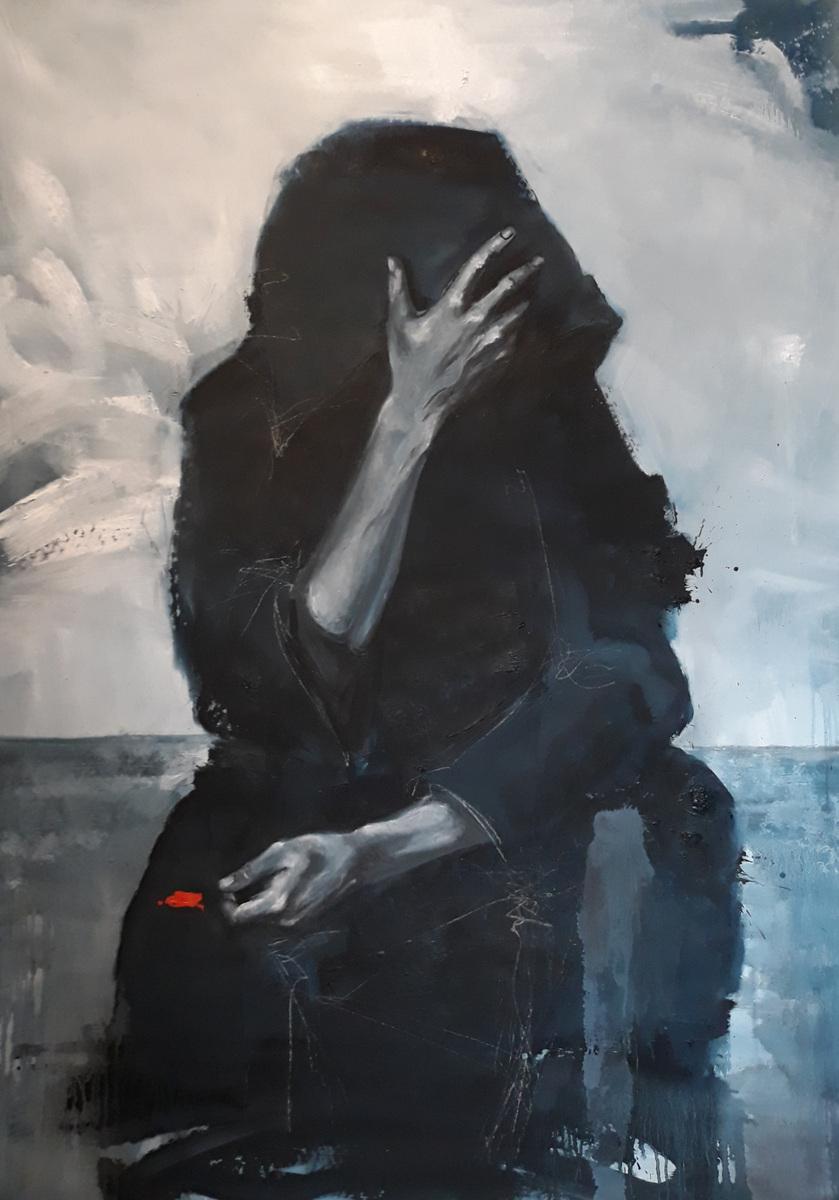 Martina Dalla Stella - Lumano viaggio/7, olio su tela, 170x120 cm, 2020