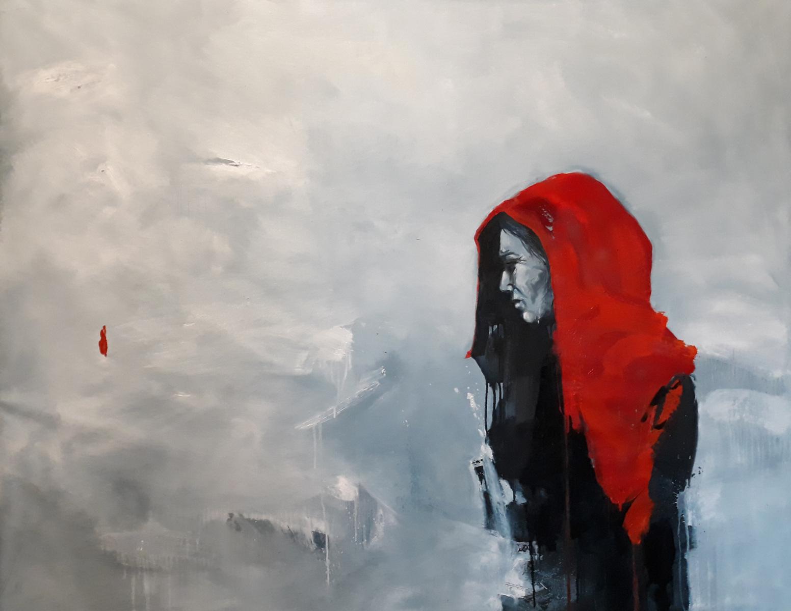 Martina Dalla Stella - Pensiero, olio su tela, 120x170 cm, 2020