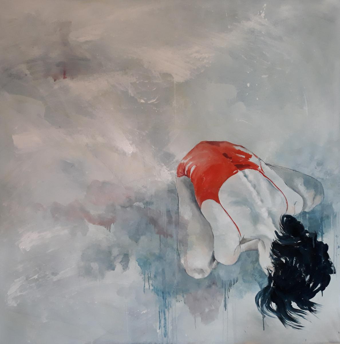 Martina Dalla Stella - Raccoglimento, olio su tela, 150x160 cm, 2021
