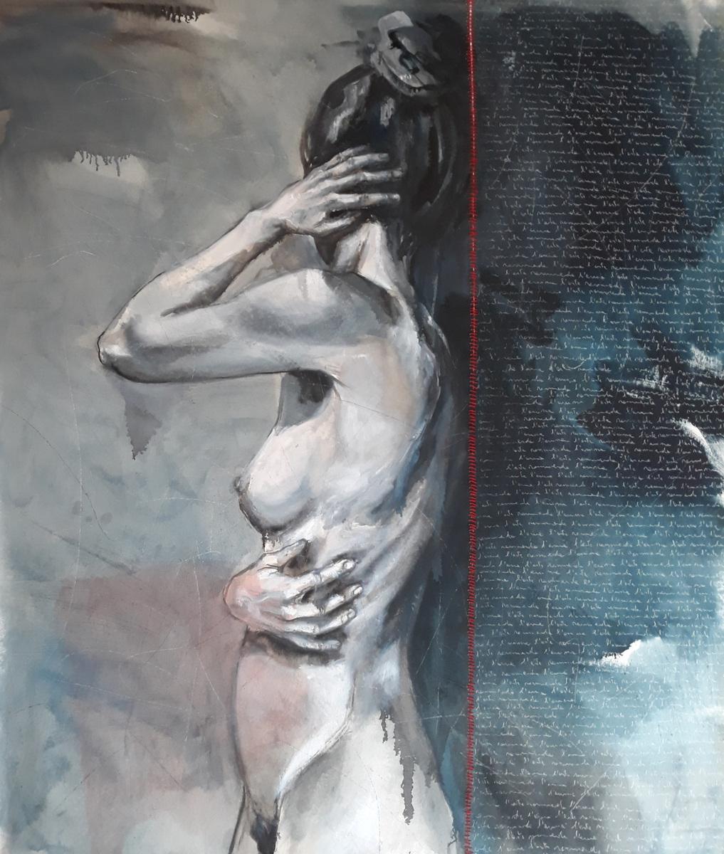 Martina Dalla Stella - Rammendi, olio su tela, 165x130 cm, 2021