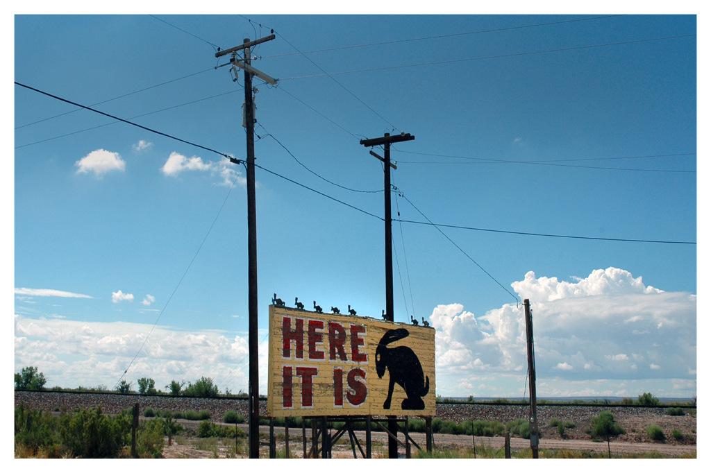 Simon Larson Photography - Here It Is!, Jack Rabbit Trading Post, near Joseph City, Arizona, Route 66