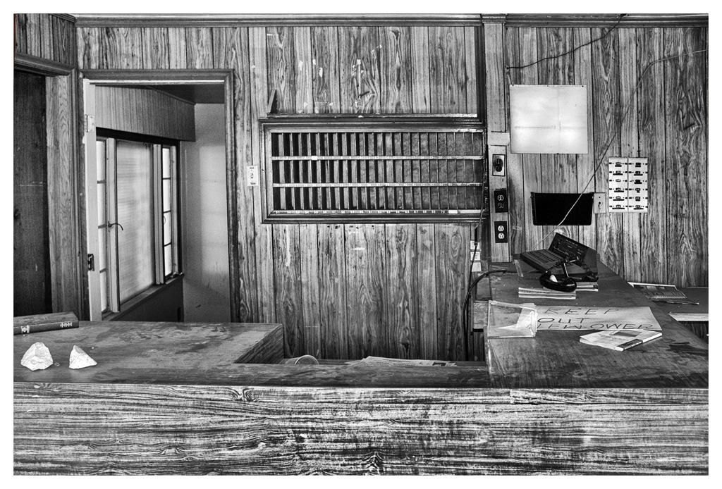 Simon Larson Photography - Abandoned Motel Reception Desk, Route 66