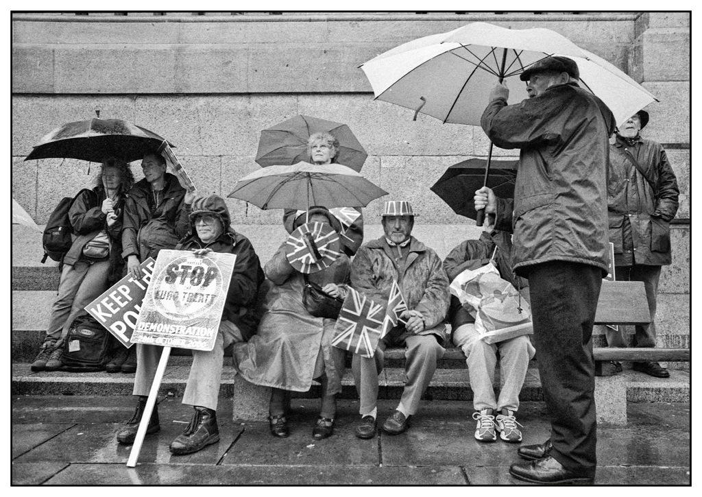 Simon Larson Photography - Keep The Pound #2, Demonstration, Trafalgar Square, London