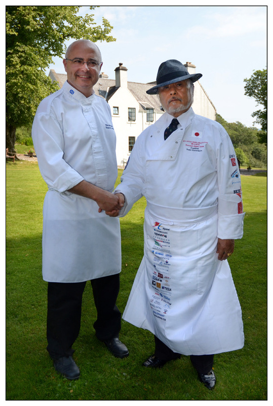 Simon Larson Photography - Kinloch Lodge Head Chef/ Director Marcello Tully welcomes Master Japanese Chef, Mr Hisatoshi Utsunomiya, Kinloch Lodge Hotel & Restaurant