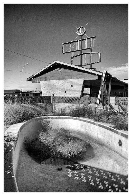 Simon Larson Photography - Abandoned Motel & Swimming Pool, Route 66, Arizona