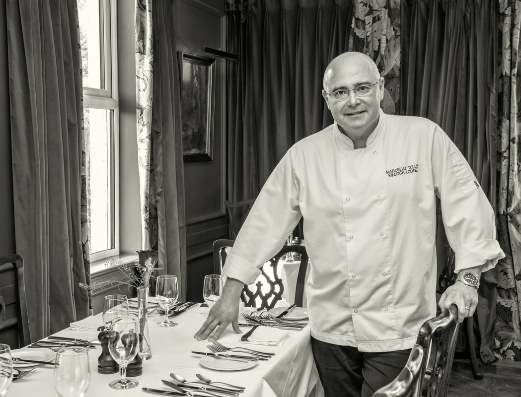 Simon Larson Photography - Marcello Tulley photographed in Kinloch Lodge Restaurant