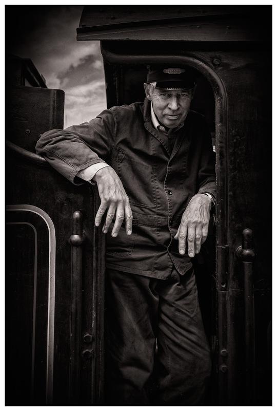 Simon Larson Photography - Steam Train volunteer, Mallaig, 2017