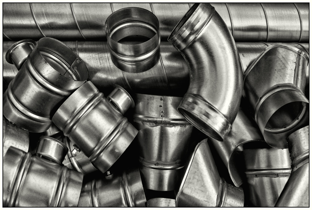 Simon Larson Photography - Stainless Steel Duct Pipes